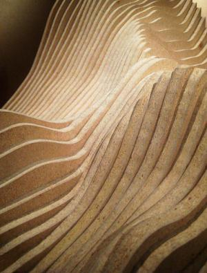 Waves made out of thin pieces of wood