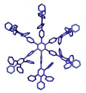 Snowflake-shaped image of a macromolecule