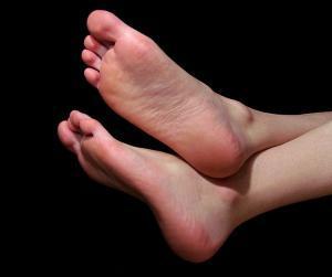 Photo of man's feet
