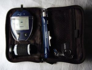 glucose meter in case
