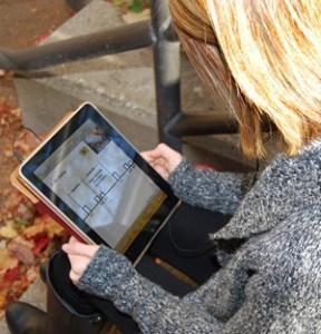 Student using PSB on iPad