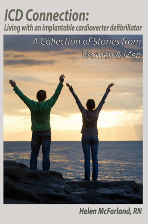 Book cover art for ICD Connection book showing a man and a woman on the cliff by an ocean
