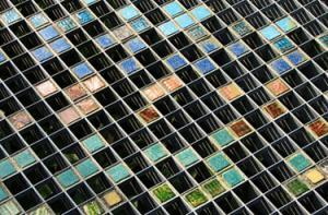Array of multi-color tiles