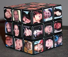 Rubik's Cube with Pictures of Diverse People