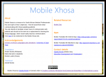 Written Text about Mobile Xhosa