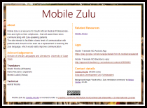 Written Text about Mobile Zulu