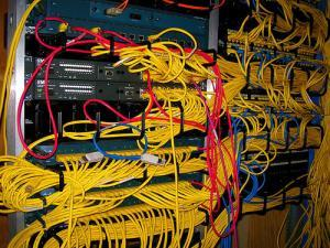 Image of network cables