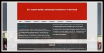 screenshot of occupation-based community development framework