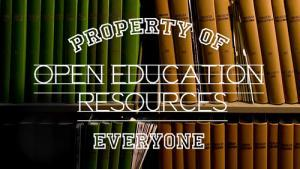 "Image that says ""Property of everyone open education resources"""