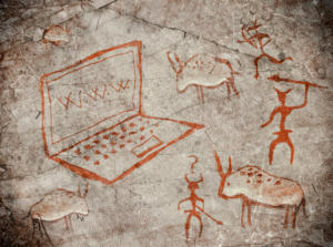 Picture of ancient cave drawings
