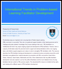 "Crest of University of Cape Town on a university document that is titled ""International Trends in Problem-based Learning Facilitator Development"""